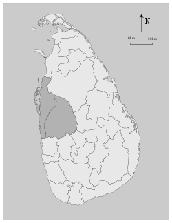 Location within Sri Lanka